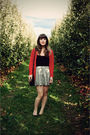 White-modcloth-skirt-red-the-limited-cardigan-black-urban-outfitters-purse-