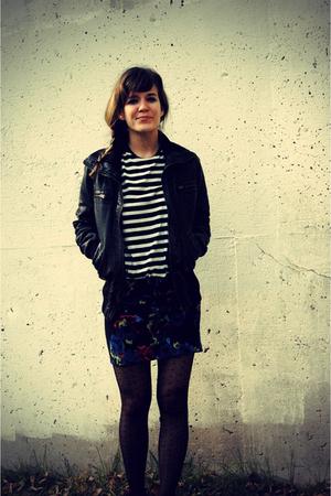 black b hip by me jane jacket - black Gap shirt - blue Forever 21 skirt - black