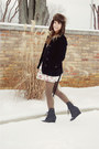 Black-h-m-coat-heather-gray-pac-sun-top-olive-green-american-apparel-tights-