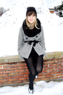 Black-army-surplus-store-hat-black-unknown-scarf-black-unknown-tights-gray