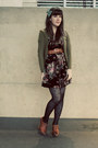 Black-postcards-from-swap-dress-black-forever-21-tights-olive-green-h-m-card