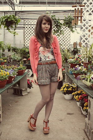 heather gray modcloth shorts - tawny Blowfish Shoes heels - coral lee &amp; birch ca