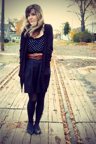 black Forever 21 top - black Sam & Libby shoes - black Target tights