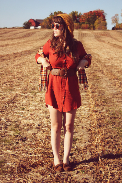 brown Francescas Collections belt - burnt orange bonjour bbydoll dress