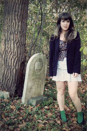black thrifted blazer - white Urban 1972 dress - green Urban Outfitters socks -