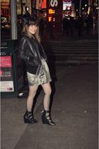 black b hip by me jane coat - black modcloth dress - black Forever 21 shoes - bl