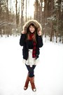 Brown-wanted-boots-black-tj-maxx-jacket-navy-lulus-tights-brick-red-younke