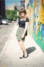 Green-urban-outfitters-skirt-black-urban-outfitters-shoes-black-express-top