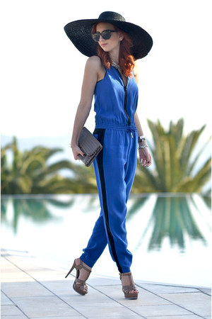 sportmax bodysuit - Zara hat - Bottega Veneta purse - Yves Saint Laurent sandals