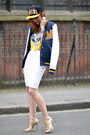 Navy-topshop-jacket-white-topshop-skirt-light-yellow-jimmy-choo-sandals