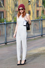 Ruby-red-asos-hat-black-chanel-bag-silver-topshop-bodysuit