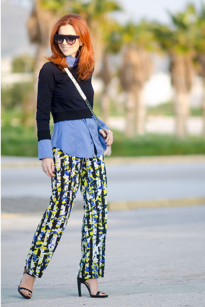 Dsquared2 shirt - Chanel bag - Celine sunglasses - Zara heels