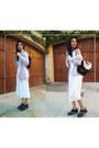 Silk-urban-outfitters-dress-platforms-shelleys-london-loafers
