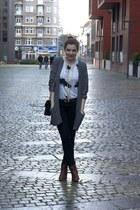 Zara boots - weekday shirt - H&M pants - Monki cardigan