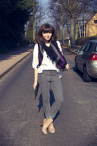 Isabel Marant scarf - Zara boots - Cheap Monday jeans - Monki bag - H&M blouse