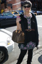 vintage dress - Louis Vuitton purse - Chanel sunglasses - abercrombie and fitch