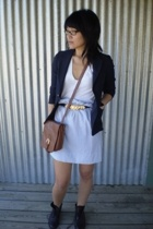 blazer - skirt - accessories - shoes