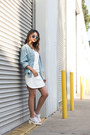 White-covu-clothing-dress-light-blue-denim-jacket-boutique-in-japan-jacket