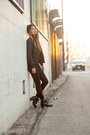 Black-topshop-jeans-black-puma-hat-black-uniqlo-jacket