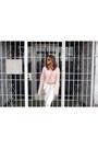 White-topshop-jeans-light-pink-tobi-sweater-silver-michael-kors-purse