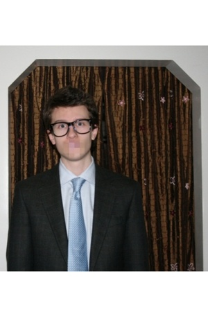 idk glasses - JpTilford shirt - JpTilford jacket - Hugo Boss tie
