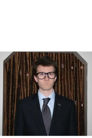 idk glasses - Hugo Boss jacket - JPTilford shirt