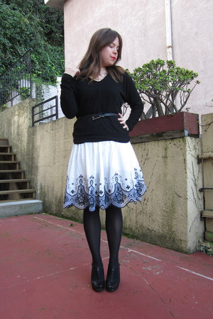 periwinkle Forever 21 dress - magenta ann taylor coat - black Gap sweater - blac