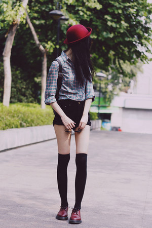 Dr Martens shoes - Zara shirt - sunglasses