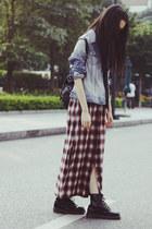 UNIF skirt - Dr Martens boots - H&M jacket