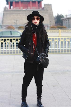 Dr Martens boots - Zara jacket - Alexander Wang bag - Miu Miu sunglasses