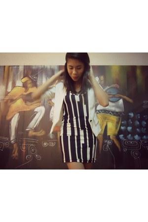 black bodycon dress - neutral Cover Girl vest