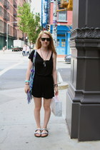 free people dress - leather Urban Outfitters bag - Ray Ban sunglasses