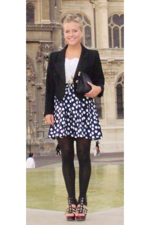 Yves Saint Laurent blazer - Urban Outfitters top - Chloe accessories - Steve Mad