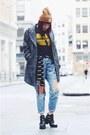 Vintage-diy-jeans-ankle-boots-topshop-boots