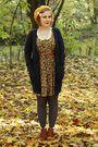 Yellow-zara-dress-gray-h-m-tights-brown-h-m-belt-brown-akira-boots-yello