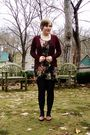 Black-modcloth-dress-red-h-m-cardigan-black-tights-brown-thrifted-shoes-
