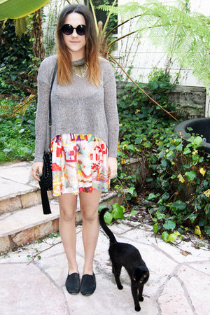 Chloe skirt - hi low sweater Ambiance sweater - Urban Outfitters bag