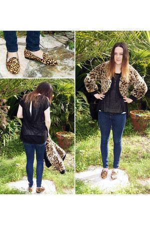 skinny jeans Zara jeans - leopard print Michael Kors jacket - Freeloader t-shirt
