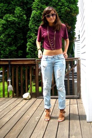 American Apparel shirt - from japan jeans - Pac Sun jeans - Nine West shoes