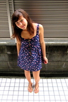 from japan dress - Urban Outfitters earrings - Urban Outfitters shoes