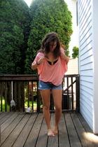 Urban Outfitters shirt - Target bra - hollister shorts