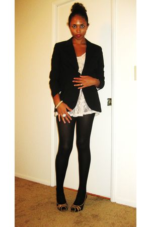Target blazer - Target blouse - American Apparel tights - kohls shoes