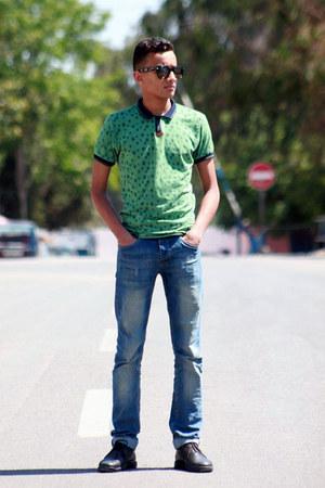 forest green asos t-shirt