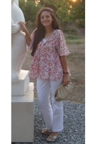 MNG blouse - MNG pants - Desa shoes - Vintage by Grandmother She is a styleicon