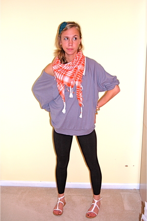 scarf - American Apparel shirt - Sid Nancy accessories - leggings - Forever21 sh