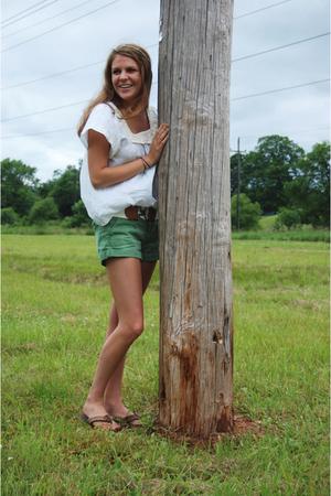 shirt - American Eagle shorts - Rainbows shoes - belt