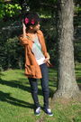Orange-jcrew-jacket-gray-forever-21-blouse-blue-joes-jeans-jeans-blue-keds