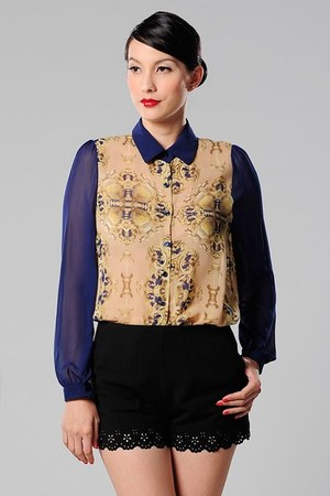 baroque printed Azorias shirt
