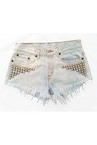 white Omen eye shorts