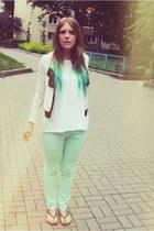 aquamarine River Island jeans